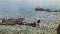 Bombardeiros 17Z voando sobre os Países Baixos, maio 1940
