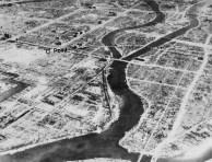 Vista panorâmica de Hiroshima após a bomba.