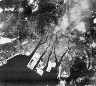Vista aérea de Hiroshima após a bomba.