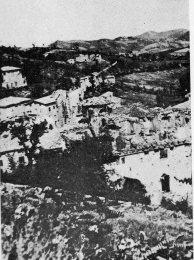 Montese 1945 após bombardeio neste local passava a Linha Gótica