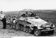 Frankreich, Heinz Guderian in Schützenpanzer