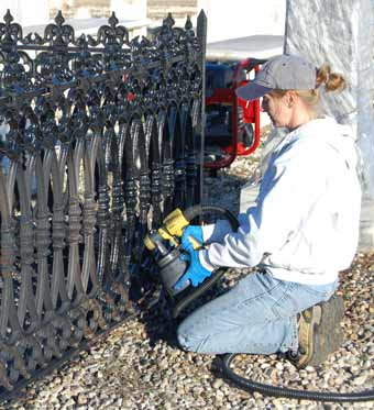 Cemetery Ironwork Fencing Preservation Chicora Foundation