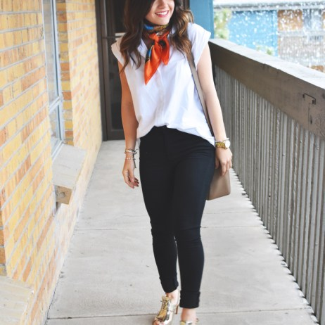 STYLING MY FAVORITE SILK SCARF – CHIC STYLE LINK UP