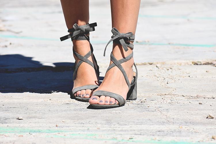 Public Desire lace up sandals