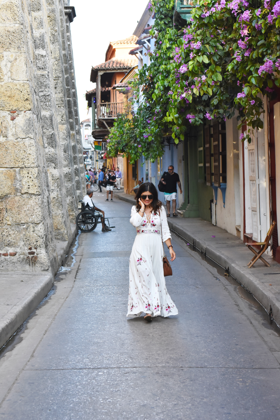 street style in Cartagena Colombia