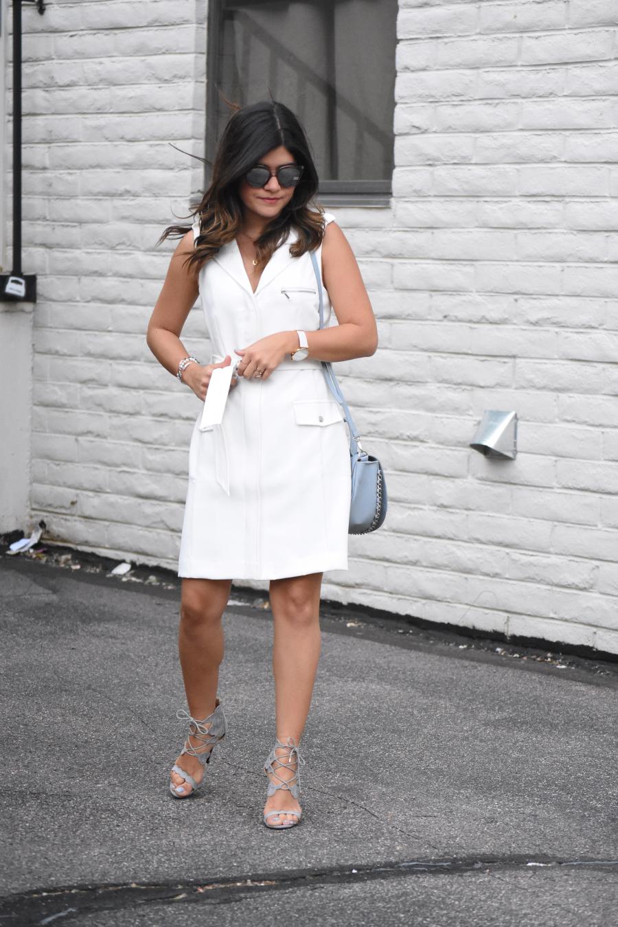 Bar III white dress ootd