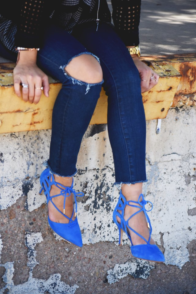 Mark fisher blue lace up shoes