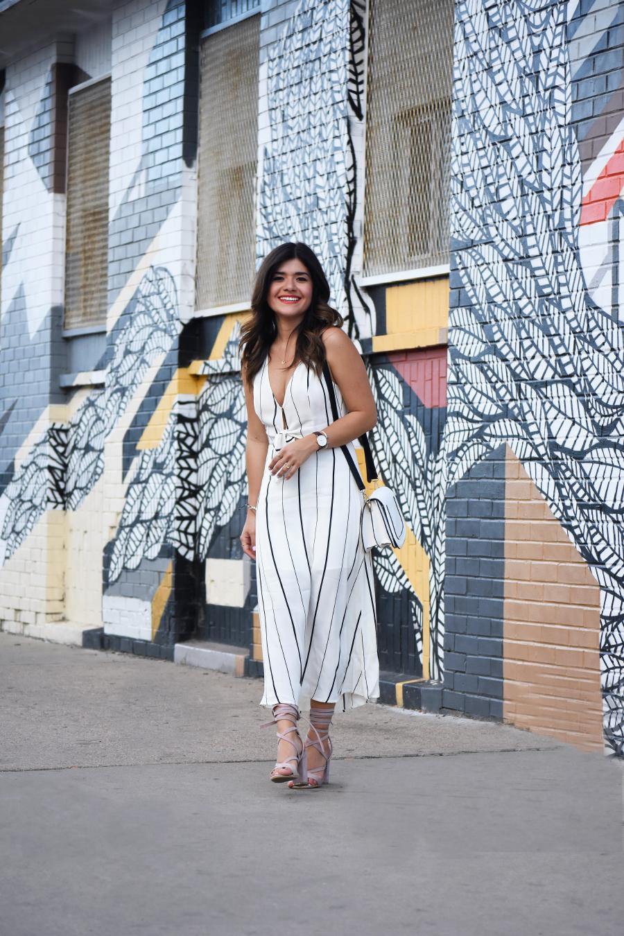 Summer striped midi dress