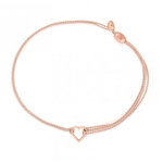 Alex and Ani Light pink heart kindred cord for global fund.