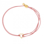 Dark pink heart kindred cord for global fund RED