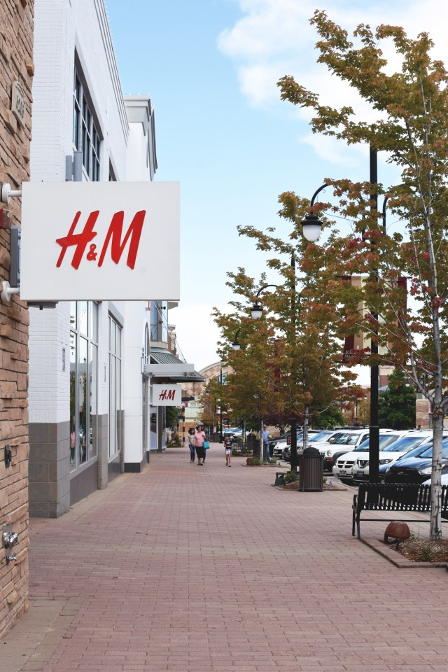 H&M store at Southlands Shopping Center in Aurora, Colorado