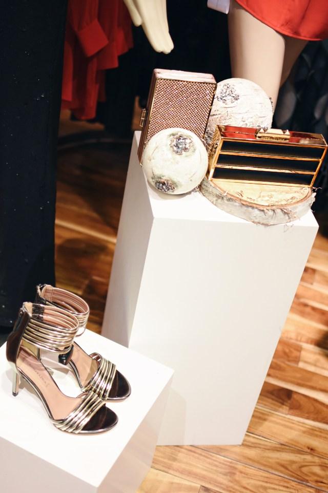 BCBG gold accessories