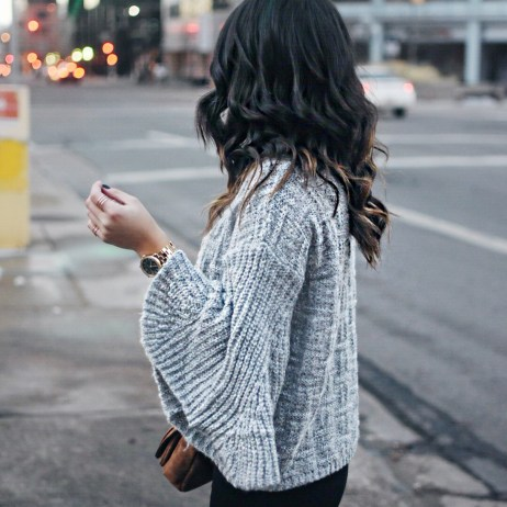 BELL SLEEVES AND OVER THE KNEE BOOTS