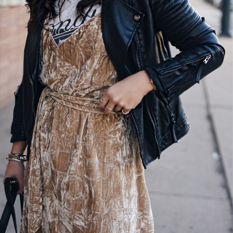 THE CRUSHED VELVET DRESS