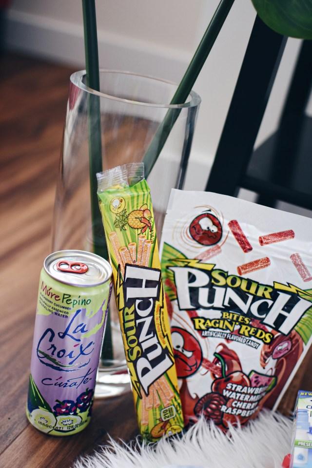 Babbleboxx festival theme campaign featuring La Croix soda, Sour punch gummies