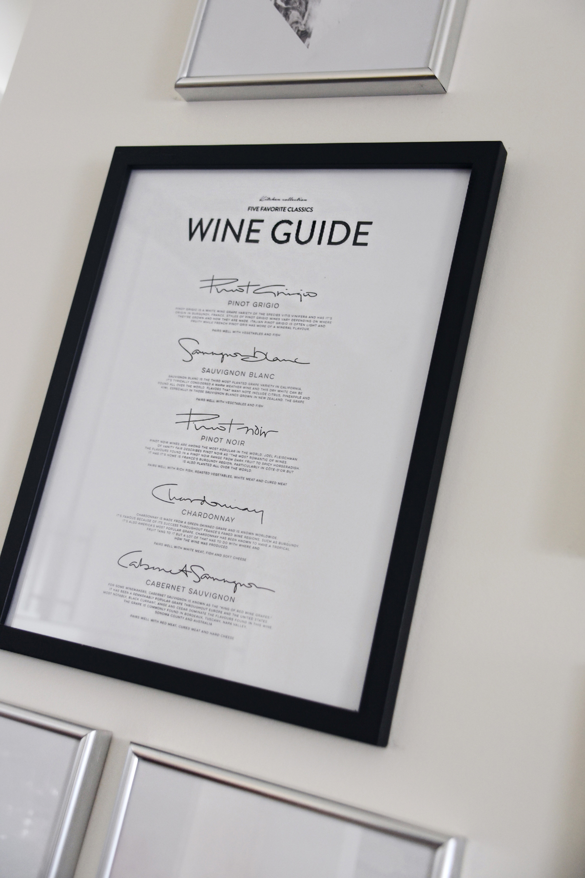 Desenio wine guide poster