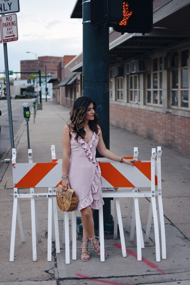 Carolina Hellal of Chic Talk wearing a Lioness caliente ruffle dress via Shopbop, Cultgaia bag and Rebecca Minkoff sandals.