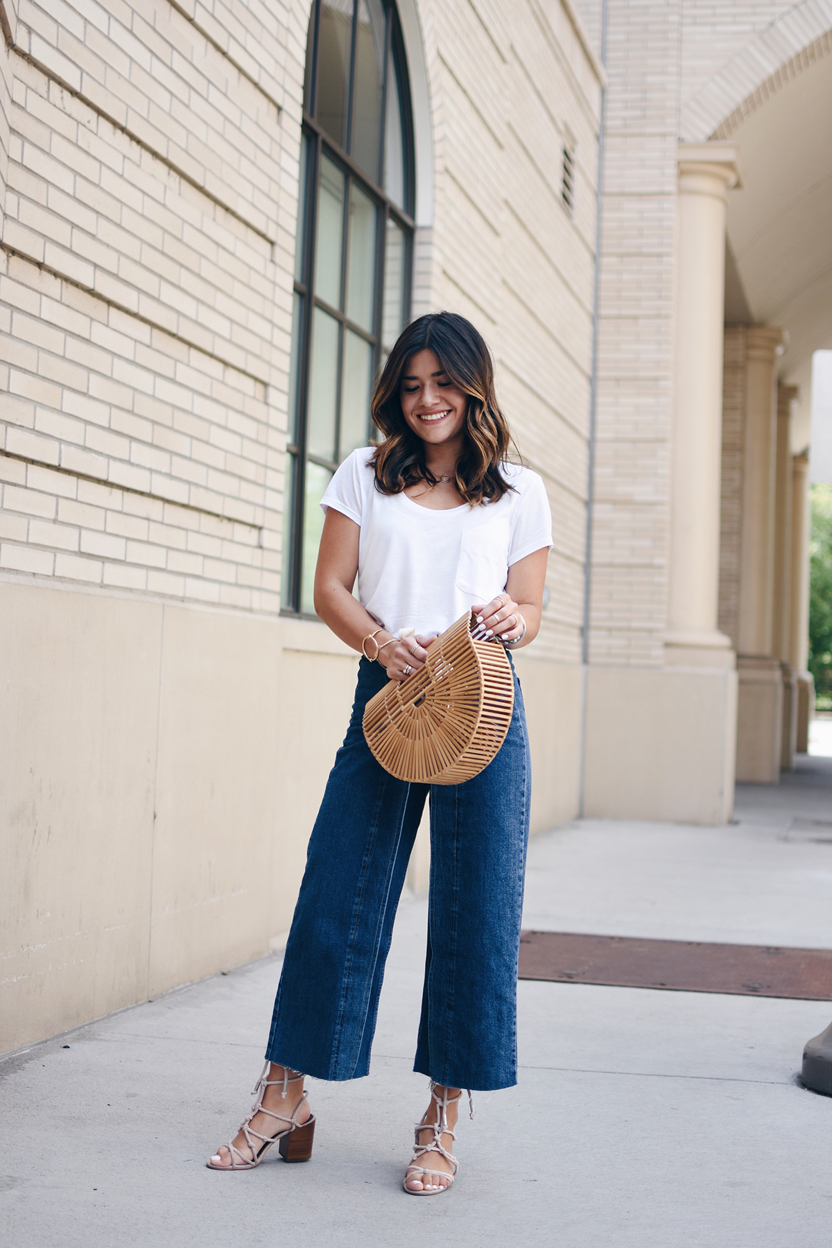 Carolina Hellal of Chic Talk wearing Topshop jeans