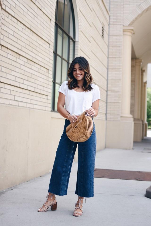 Carolina Hellal of Chic Talk wearing Topshop jeans