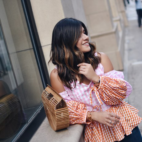 STYLING A GINGHAM PRINT TOP + $550 NORDSTROM GIFT CARD GIVEAWAY