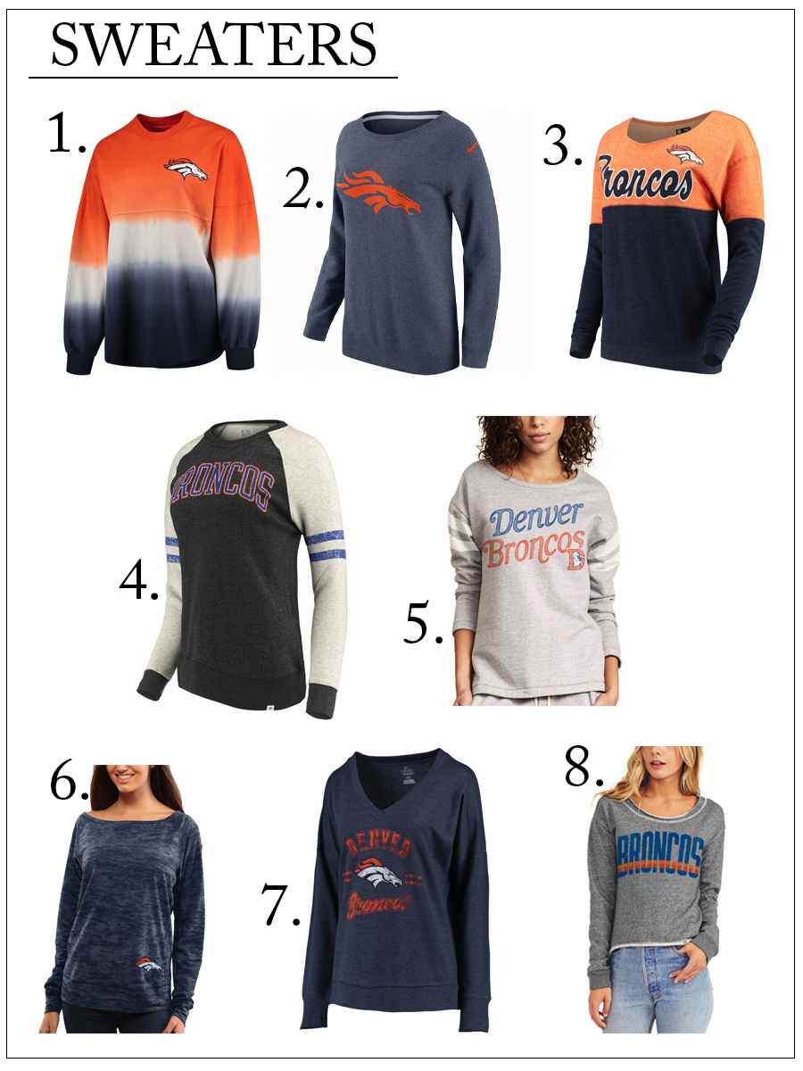 Denver Broncos must-have sweaters or the season for her