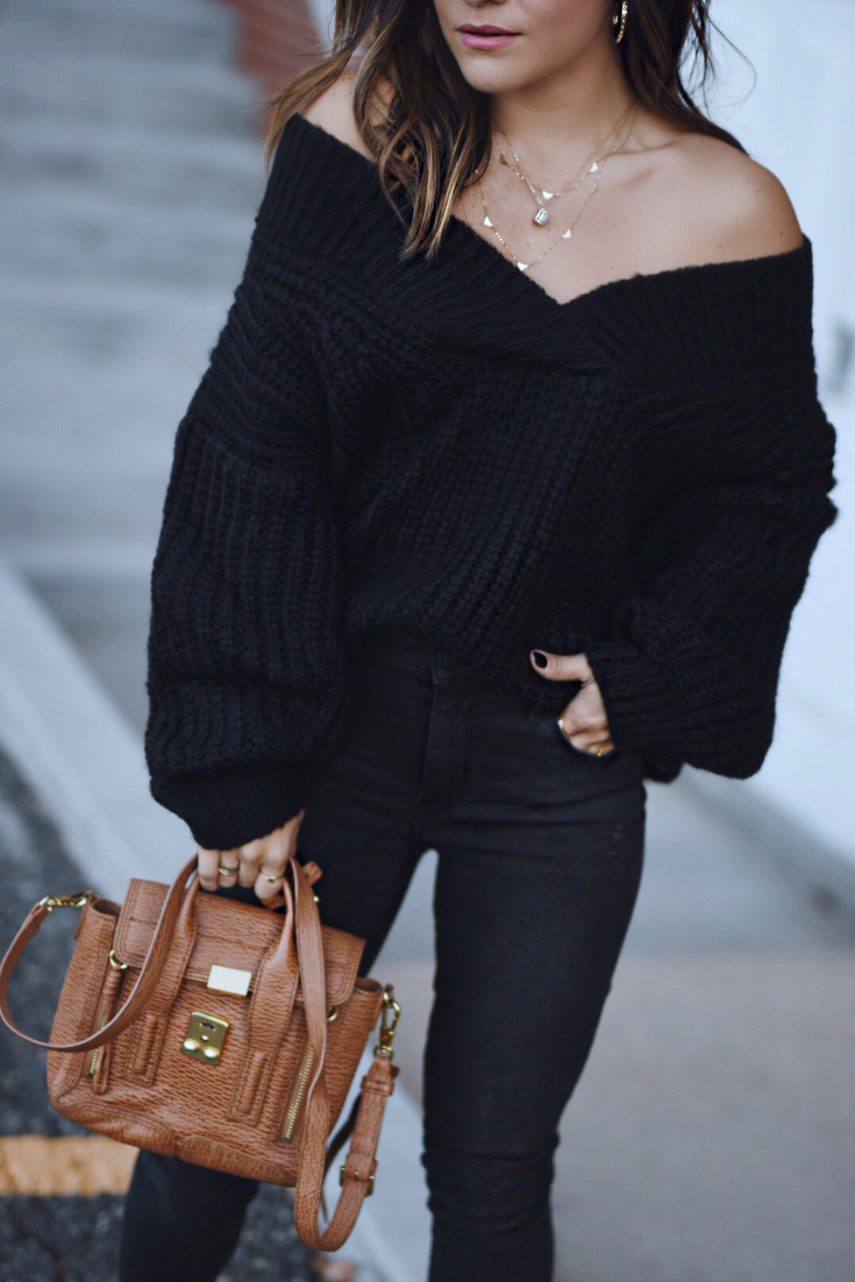 Carolina Hellal of Chic Talk wearing a shein knit sweater, topshop jeans, 3.1 phillip lim bag, johnston & Murphy boots and marc jacobs watch - NORDSTROM FALL SALE TOP PICKS by popular Denver fashion blogger Chic Talk