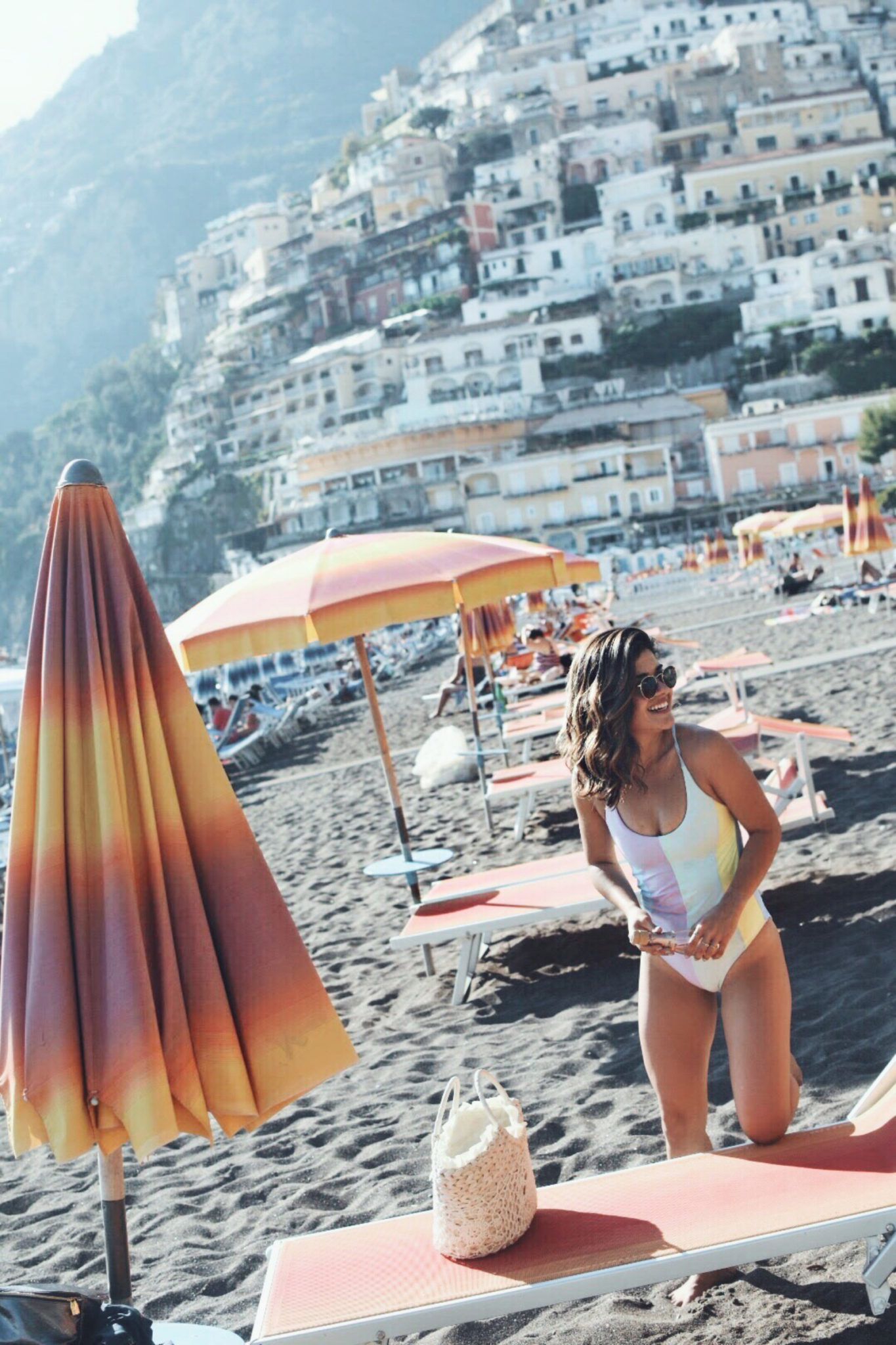Carolina Hellal of Chic Talk in Positano, Italy.