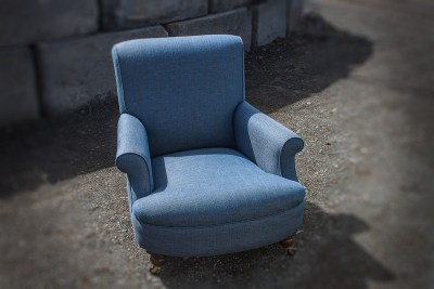 Blue Upholstered Single Chair