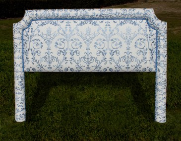 Damask Pattern Bed Head with rolled edge