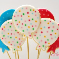 Globos de Hello Kitty en galletas