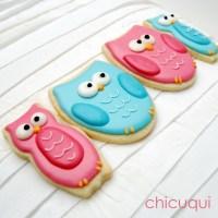 Cómo decorar galletas en forma de búhos