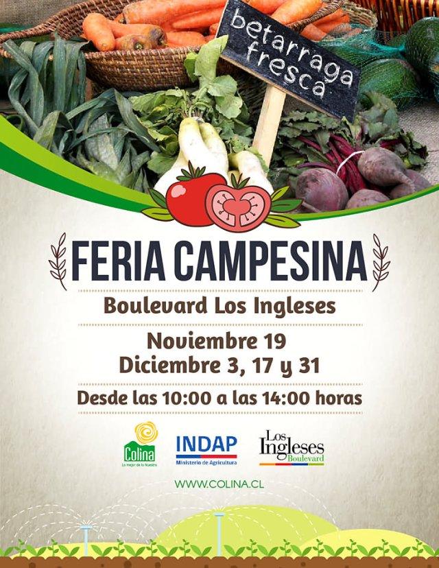 Calendario 2016 Feria Campesina en Los Ingleses