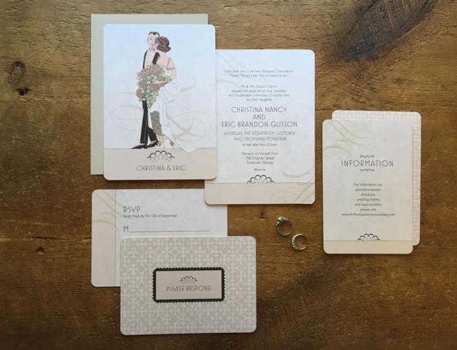Vintage Wedding Invitations Glamorous