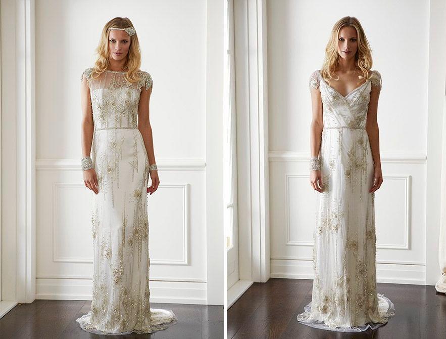 20 Art Deco Wedding Dress With Gatsby Glamour : Chic