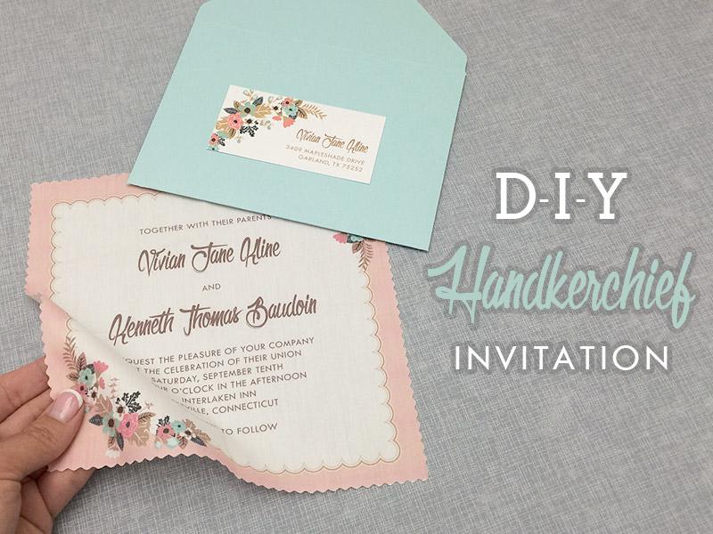 Vine Handkerchief Wedding Invitation Diy With Print