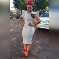 Pretty South African Girl in Bodycon Dress