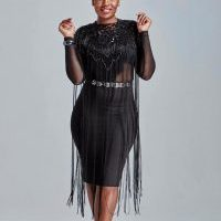 South African Actress Looking Attractive in Natural Afro Hairstyle and All Black Theme