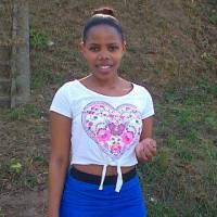 Pretty Short South African College Girl in Simple Casual Attire