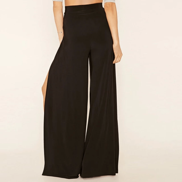 Long High-Slit Pants for Elegant Women with Wide Split-Legs Flowy Layered Yoga Palazzo Pants High Waist (1).jpg