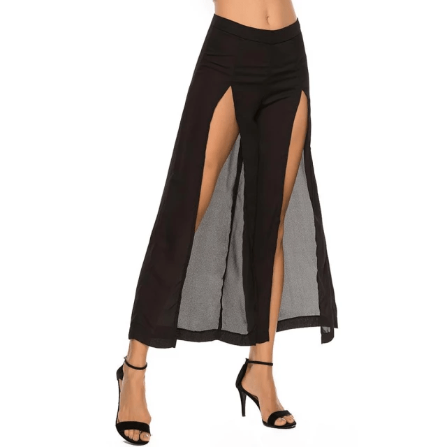 Long High-Slit Pants for Women
