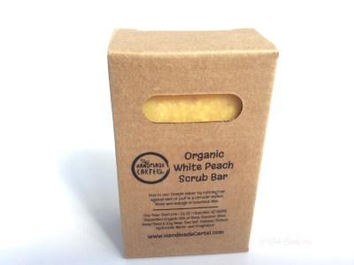 Handmade Cartel Organic White Peach Scrub Bar