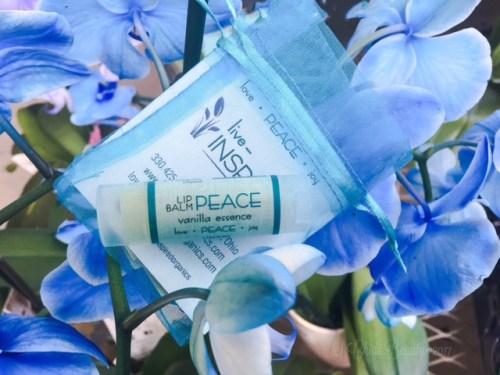 Live Inspired Organics Lip Balm in Peace Vanilla Essence
