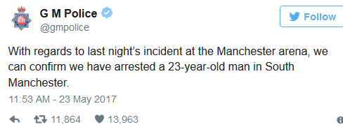 Manchester Terror arrested