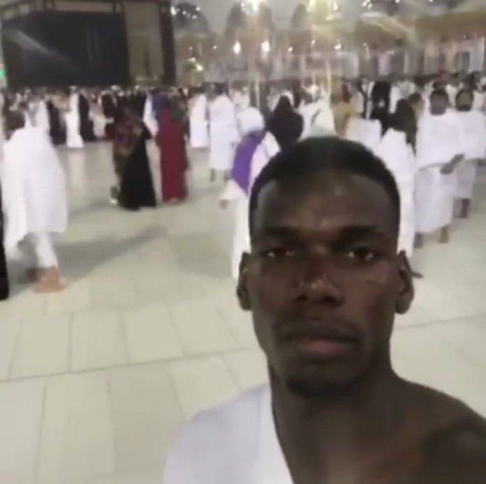 The World Most Expensive Player, Paul Pogba Sends Ramadan Greetings As He Took Selfie In Mecca Pilgrimage