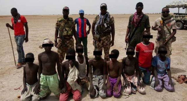Troops rescue nine minors in Borno