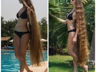 See Photos of Russian Blonde Whose Hair Is 6 Ft Long