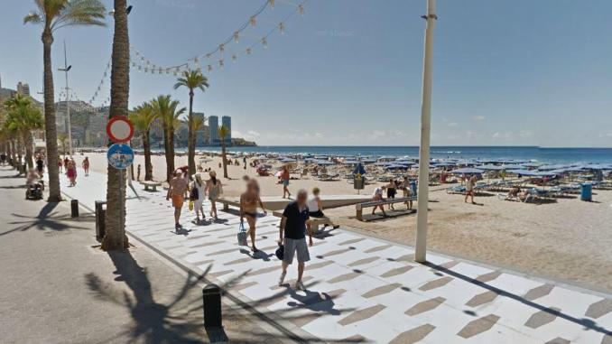 The couple were drinking in the centre of Benidorm when the alleged attack happened