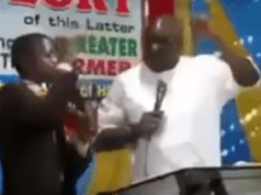 Gov. Fayose turns Pastor preaches in a church