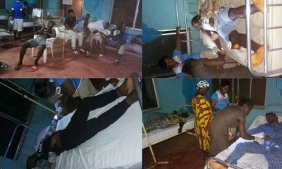 Nigerian Footballers Down With Food Poisoning - See Photos