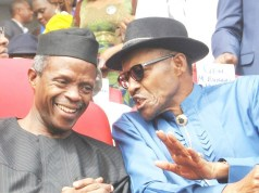 Yemi Osinbajo and Muhammadu Buhari fighting corruption